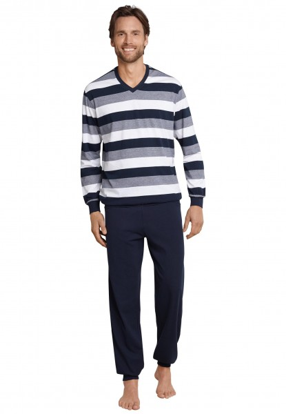 Schiesser Day and Night Herren Pyjama lang 1/1